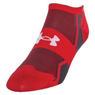 Under Armour Speedform Ultra Low Tab Running Socks Red