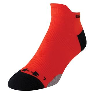 Under Armour Ultra Lite Double Tab Running Socks Volcano Orange / Black