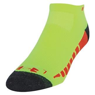 Under Armour Full Cushion Running Socks Hi-Vis Yellow / Black