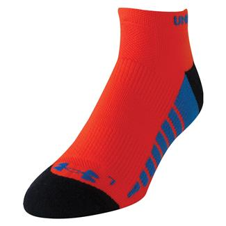 Under Armour Full Cushion Running Socks Volcano Orange / Black