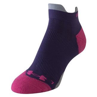 Under Armour Ultra Lite Double Tab Running Socks Twilight Purple / Fuchsia Rose