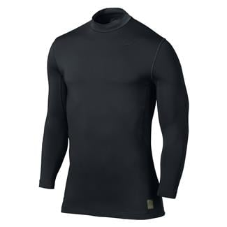NIKE Hyperwarm Dri-Fit Max Fitted SF Mock Black