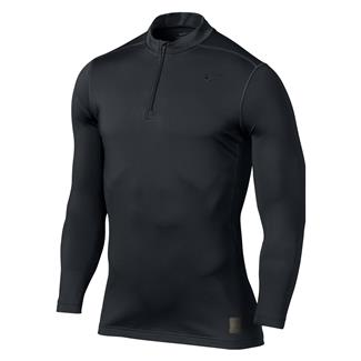 NIKE Hyperwarm Dri-Fit Max Fitted SF Mock 1/4 Zip Black