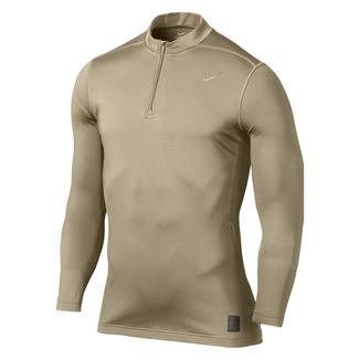 NIKE Hyperwarm Dri-Fit Max Fitted SF Mock 1/4 Zip Grain