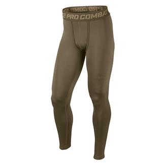 NIKE Hyperwarm Dri-Fit Max Compression SF Tights Brown