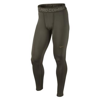 NIKE Hyperwarm Dri-Fit Max Compression SF Tights Cargo Khaki