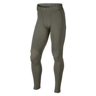 NIKE Hyperwarm Dri-Fit Max Shield Compression SF Tights Steel Green