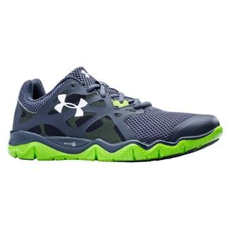Under Armour Micro G Monza Night Lead / Gecko Green / Metallic Silver