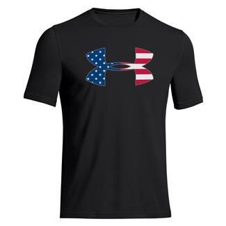 Under Armour Big Flag Logo T-Shirt Black / Steel