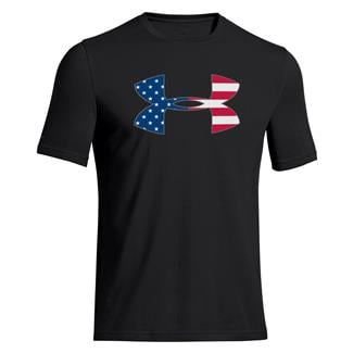 Under Armour Big Flag Logo T-Shirt Black / Steel