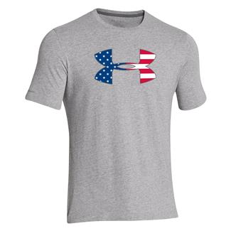 Under Armour Big Flag Logo T-Shirt True Gray Heather / Steel
