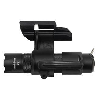Safariland RLS Weapon Light Mounting Unit with Safariland LED Flashlight Black