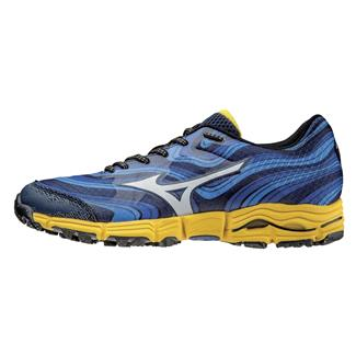 Mizuno Wave Kazan Dress Blue / Silver / Spectra Yellow