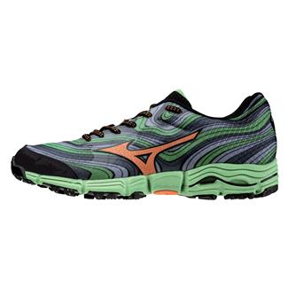 Mizuno Wave Kazan Turbulence / Vibrant Orange / Classic Green