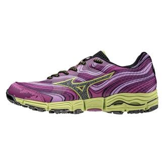 Mizuno Wave Kazan Very Berry / Black / Green Glow