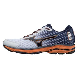 Mizuno Wave Rider 18 White / Dress Blue / Vibrant Orange