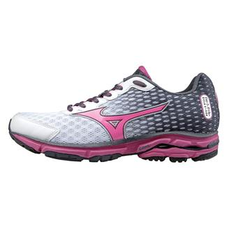Mizuno Wave Rider 18 White / Fuchsia Purple / Turbulence
