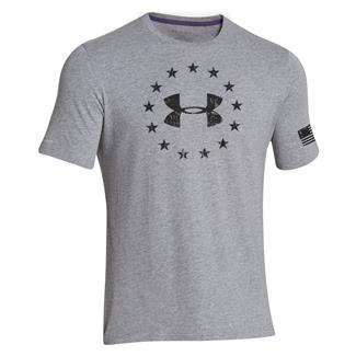 Under Armour Freedom T-Shirt True Gray Heather / Black