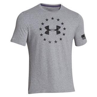 Under Armour Freedom T-Shirt True Gray Heather / Black