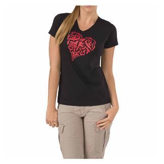 5.11 Heart of Steel T-Shirt Black