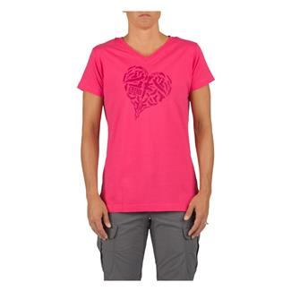 5.11 Heart of Steel T-Shirt Pink