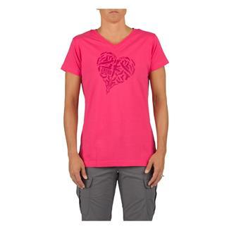 5.11 Heart of Steel T-Shirt Pink