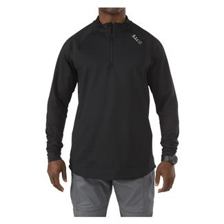 5.11 Long Sleeve Sub-Z Quarter Zip Shirt Black