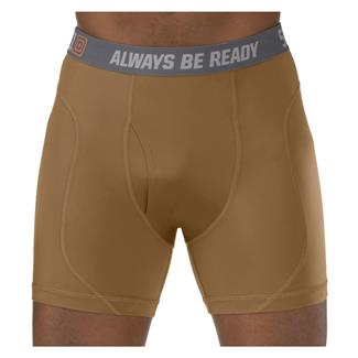 "5.11 6"" Performance Boxer Briefs Battle Brown"