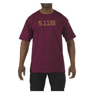 5.11 Skull Caliber T-Shirt Burgundy