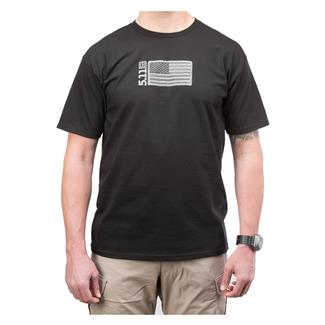 5.11 Embroidered Flag T-Shirt Black
