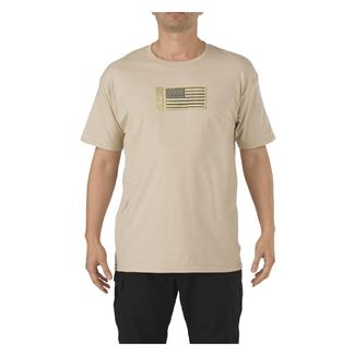 5.11 Embroidered Flag T-Shirt Tan