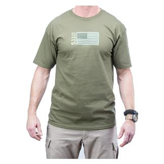 5.11 Embroidered Flag T-Shirt OD Green
