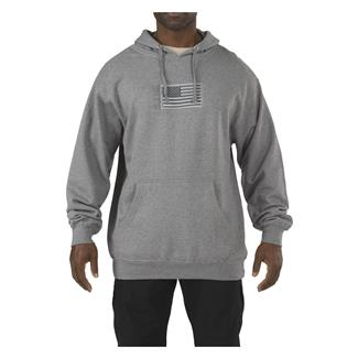 5.11 Embroidered Flag Hoodie Gunmetal Gray