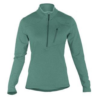 5.11 Long Sleeve Glacier Half Zip Shirt Jade
