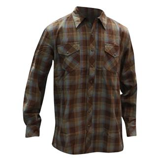 5.11 Long Sleeve Covert Flannel Shirt Bark