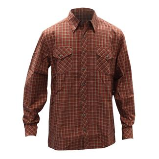 5.11 Long Sleeve Covert Flannel Shirt Ox Blood