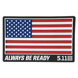5.11 USA Patch Red