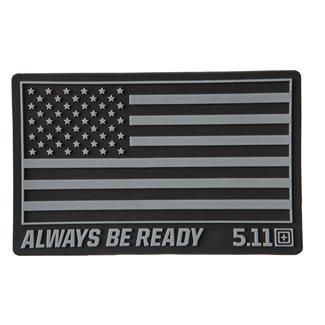 5.11 USA Patch Black