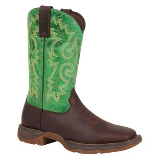 Durango Lady Rebel Bar None Sqaure Toe Dark Brown / Spring Clover