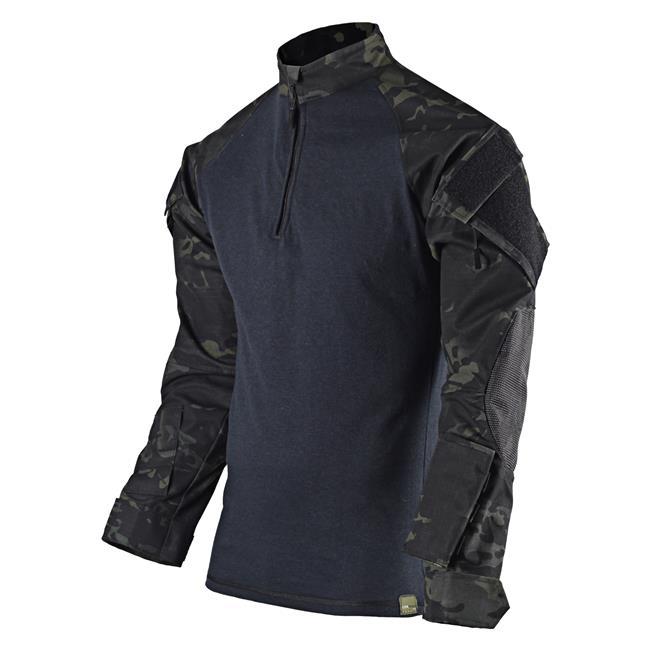 Tru-Spec Nylon / Cotton Ripstop TRU Xtreme Combat Shirts Multicam Black