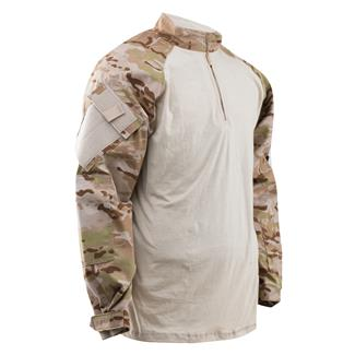 Tru-Spec Nylon / Cotton 1/4 Zip Tactical Response Combat Shirt Multicam Arid