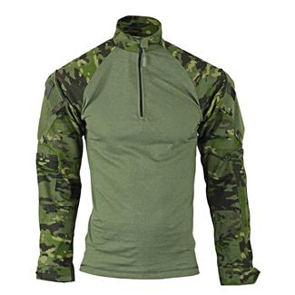TRU-SPEC Nylon / Cotton 1/4 Zip Tactical Response Combat Shirt MultiCam Tropic