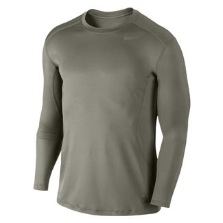 NIKE Long Sleeve Pro Combat Core Fitted Shirt Steel Green