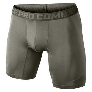 NIKE Pro Combat Core Compression Shorts Steel Green