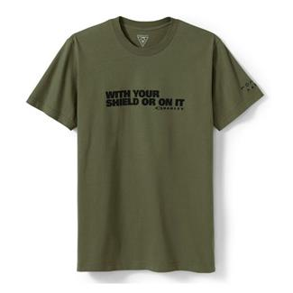 Oakley Shield T-Shirt Worn Olive