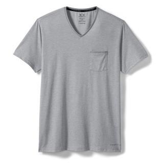 Oakley O-V Neck Pocket T-Shirt Stone Gray