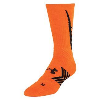 Under Armour Undeniable Crew Socks Blaze Orange / Black