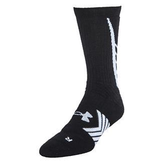 Under Armour Undeniable Crew Socks Black / White