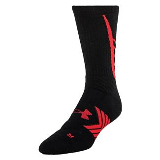 Under Armour Undeniable Crew Socks Black / Red