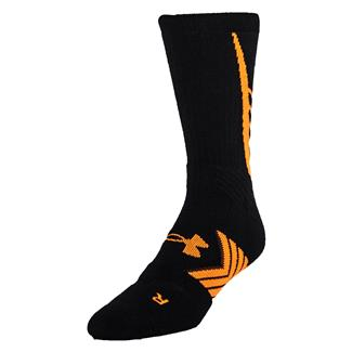 Under Armour Undeniable Crew Socks Black / Blaze Orange